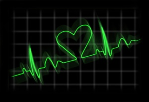 Cardiogram of a person in love Liebe Herz